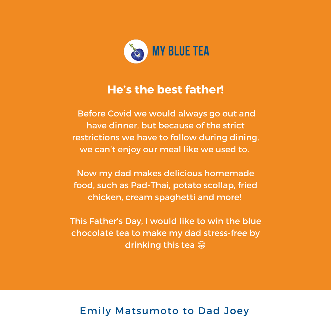 My Blue Tea Father's Day Contest Winner - Emily Matsumoto