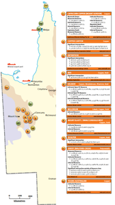 Figure 3: Queensland's new resources and mineral intersections map. Samso