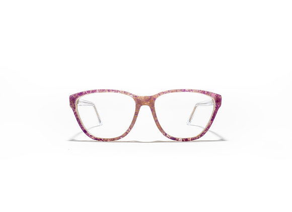 Mermaid Spectacle Frames in Pink/Purple Marble by Optex Australia Eyewear (front view)