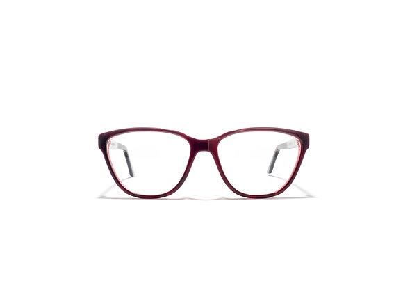 Mermaid Australian made Spectacle Frames in Purple Pink by Optex Australia Eyewear (front view)