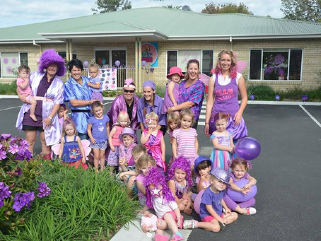 TG's Child Care Goes Purple in March Lasiandra Festival