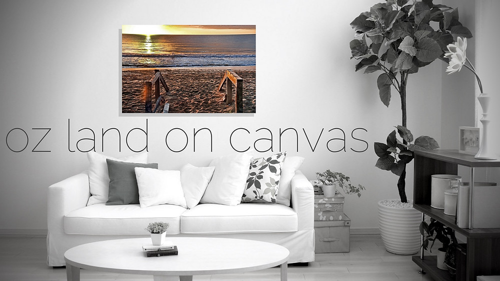 Photo of Narrabeen Beach by OZ Land Photos printed on canvas