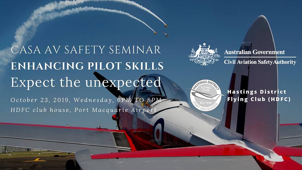 CASA AV Safety Seminar 2019 is on 23 Oct