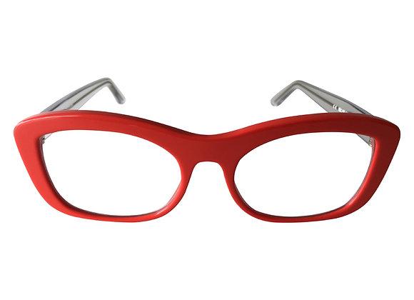 Australian Made Optical Red Frame SJ5  Femaleby Optex Eyewear