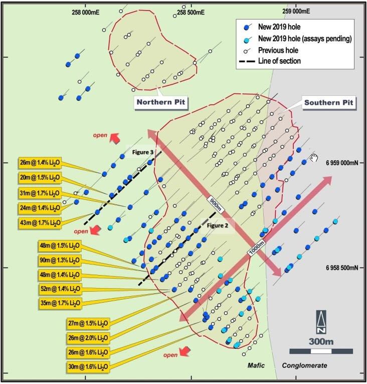 Image showing Liontown Resources 2019 drilling plan. Samso Insights