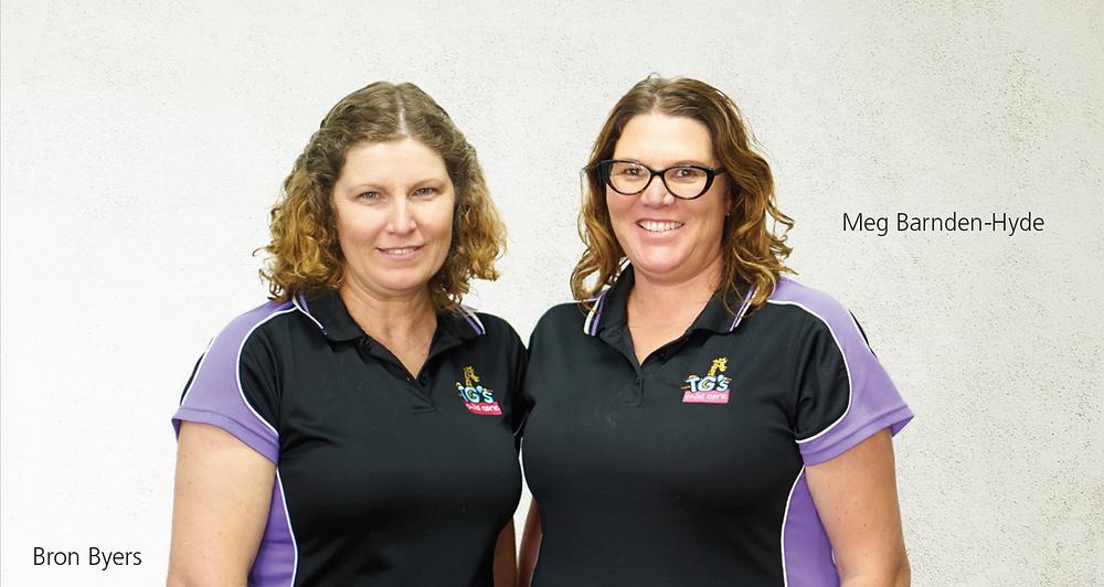 Bron Byers, Centre Manager, TG's Child Care Uralla & Meg Barnden-Hyde, Centre Manager, TG's Child Care Armidale
