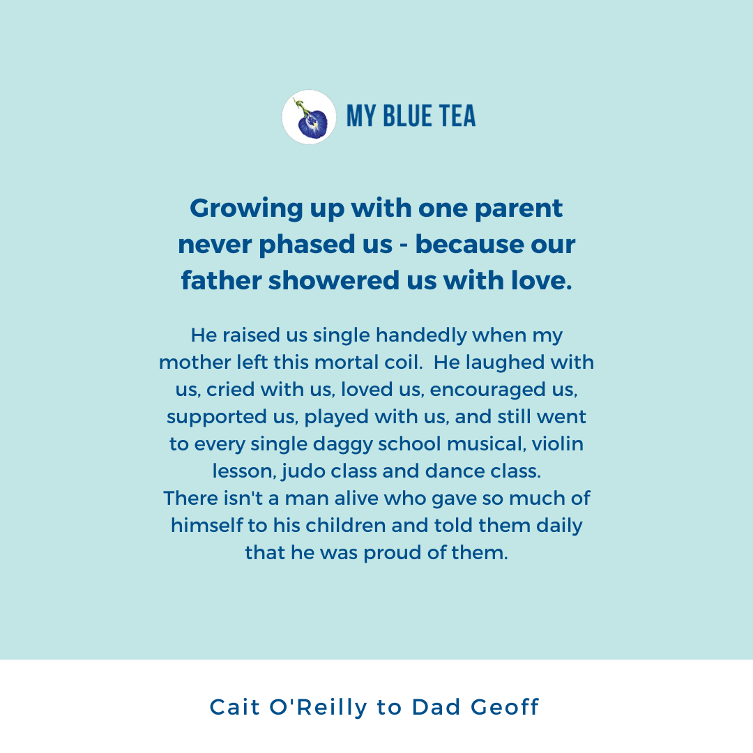 My Blue Tea Father's Day Contest Winner - Cait O'Reilly