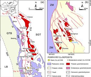 Map showing tectonic framework of the Yidun arc. Samso Insights
