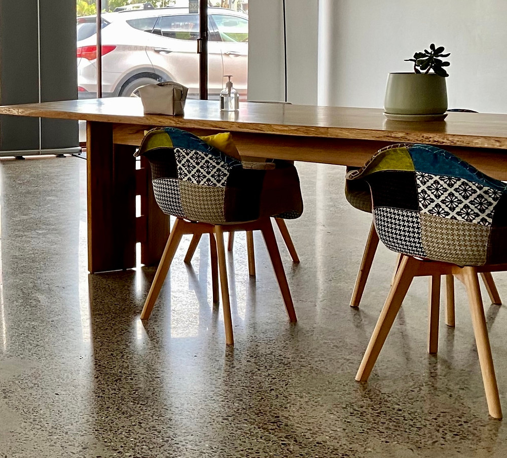 Conference table at Brilliant-Online's office in Port Macquarie, NSW Australia