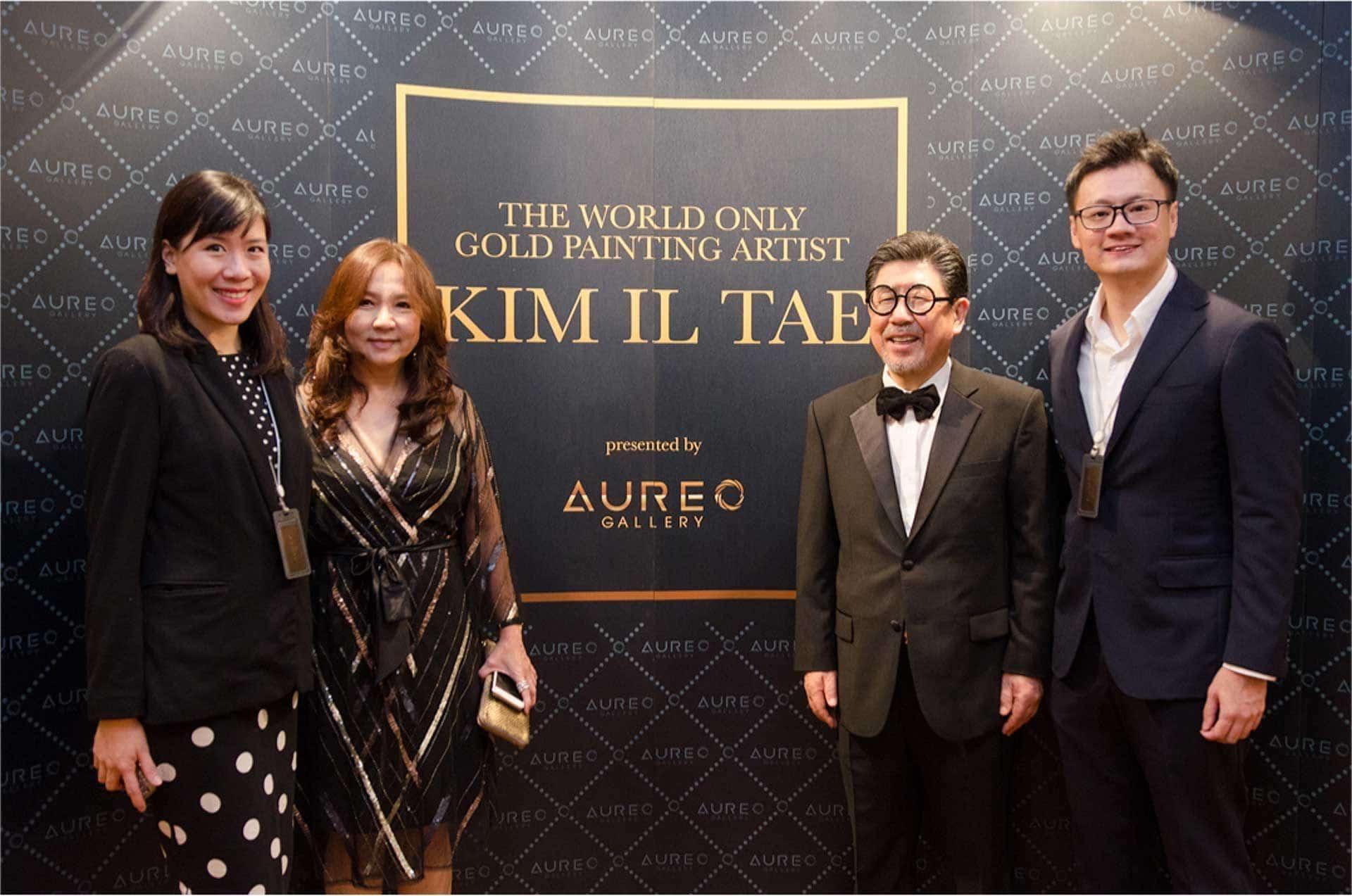 The Aureo team and Kim Il Tae