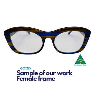 Optex sample of our work, female spectac