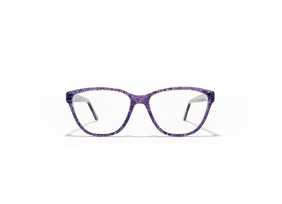 Mermaid Australian made Spectacle Frames in Purple Lace by Optex Australia Eyewear (front view)