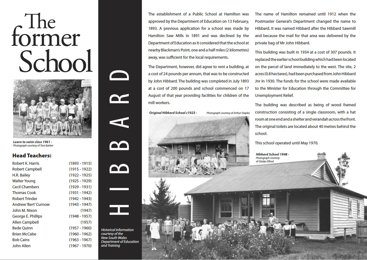 The Former School Interpretive sign