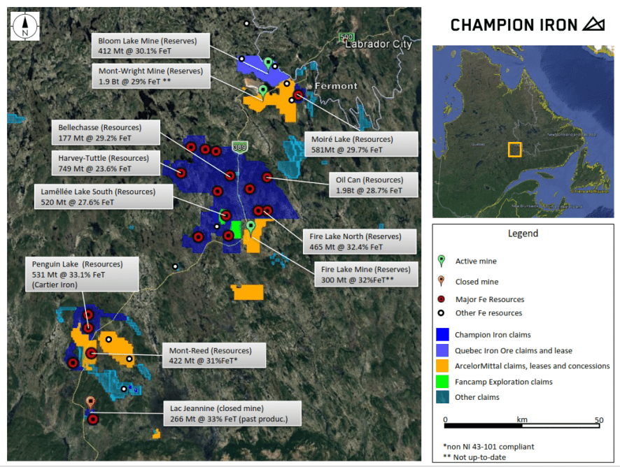 Champion Iron project overview plan. (source:Champion Iron)