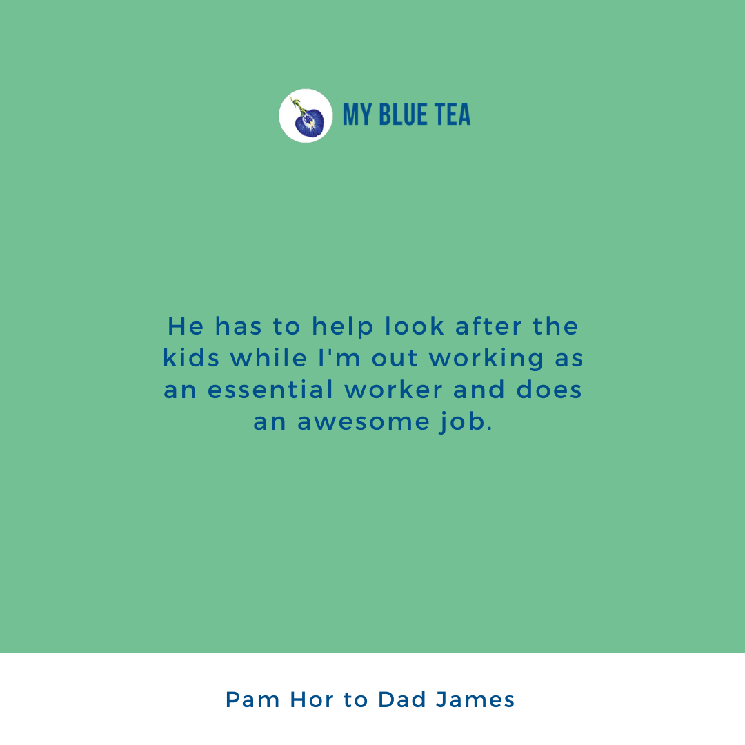 My Blue Tea Father's Day Contest Winner - Pam Hor
