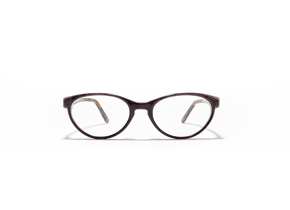 Trinity Female Australian made spectacle frame in ochre black at Optex Australia Eyewear (front view)