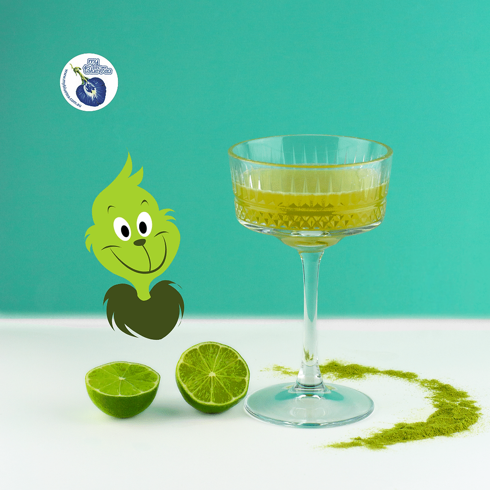 2020 Christmas green cocktails with Pandan, recipe by My Blue Tea