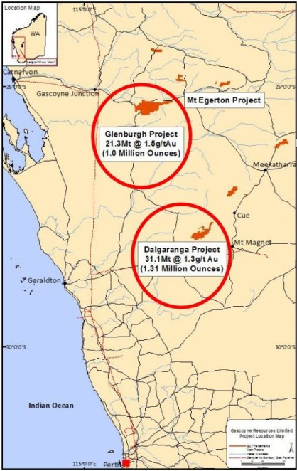 Figure 1: Gascoyne Project Location Plan (source: Gascoyne Resources Limited). Samso Insights