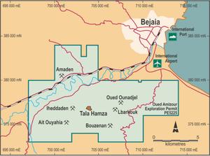 Terramin Resources Limited Tala Hamza Zinc project, Algeria. (source:  Terramin resources limited)