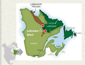 Labrador Trough is located in a modern, politically stable, mining-friendly jurisdiction.  It covers the  Canadian provinces of NEWFOUNDLAND AND LABRADOR and QUEBEC. (source:Canada Natural Resource)