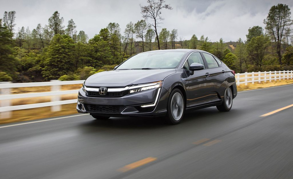 The new hydrogen cell hybrid car called the Honda Clarity.  It is a plug-in hybrid car.