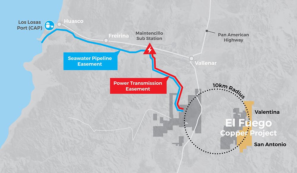 Location Map of the El Fuego Copper Project