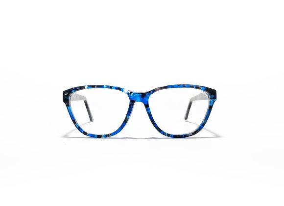 Mermaid Spectacle Frames in Blue/Black by Optex Australia Eyewear (front view)