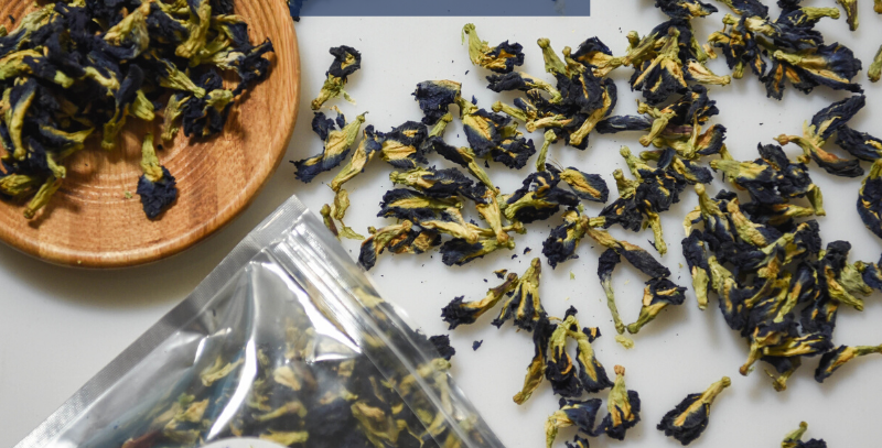 Just Blue Tea is a collection of Blue Pea Flowers from My Blue Tea