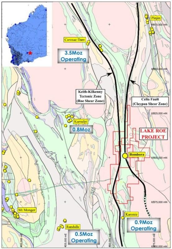 Figure 7: Lake Roe Gold Project