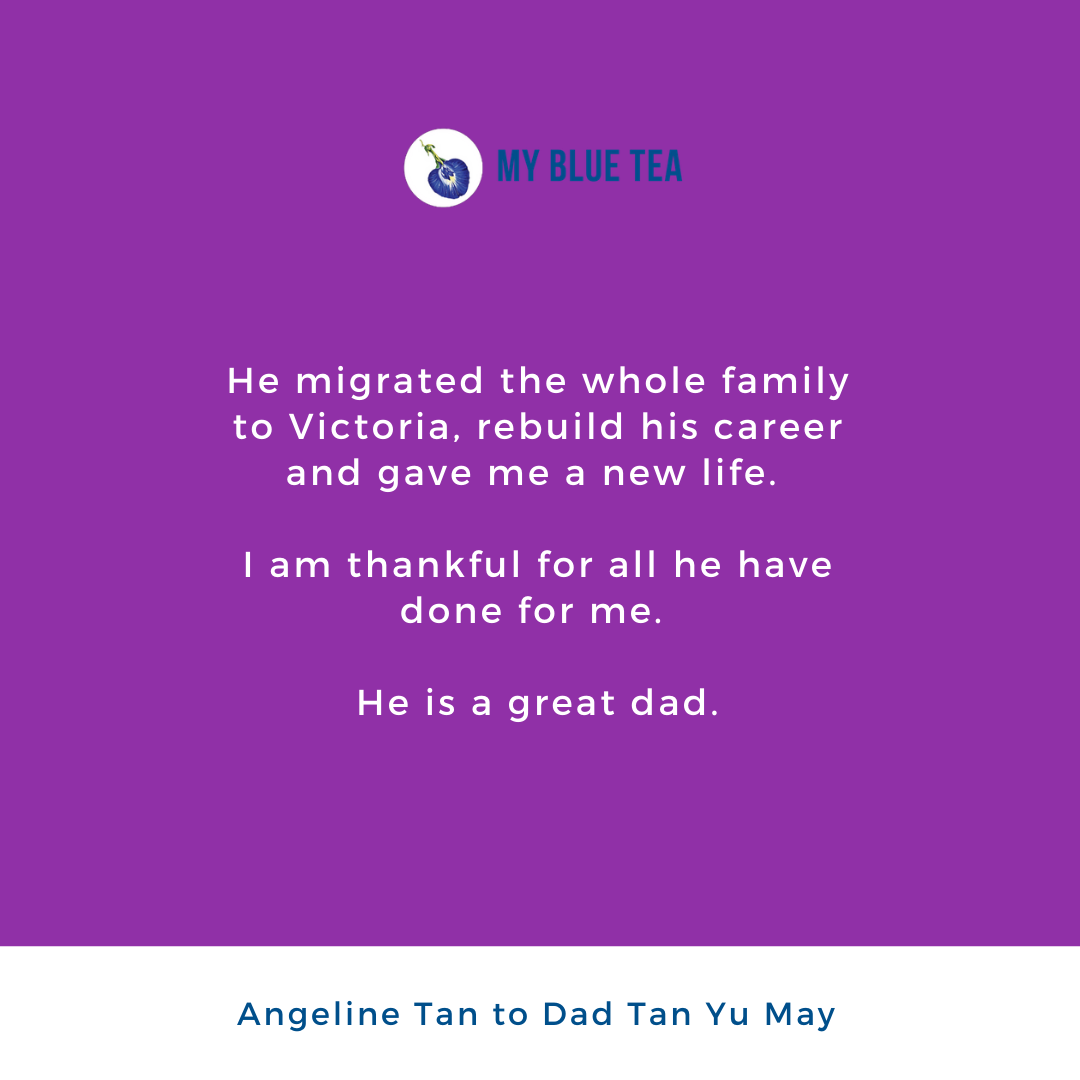 My Blue Tea Father's Day Contest Winner -  Angeline Tan