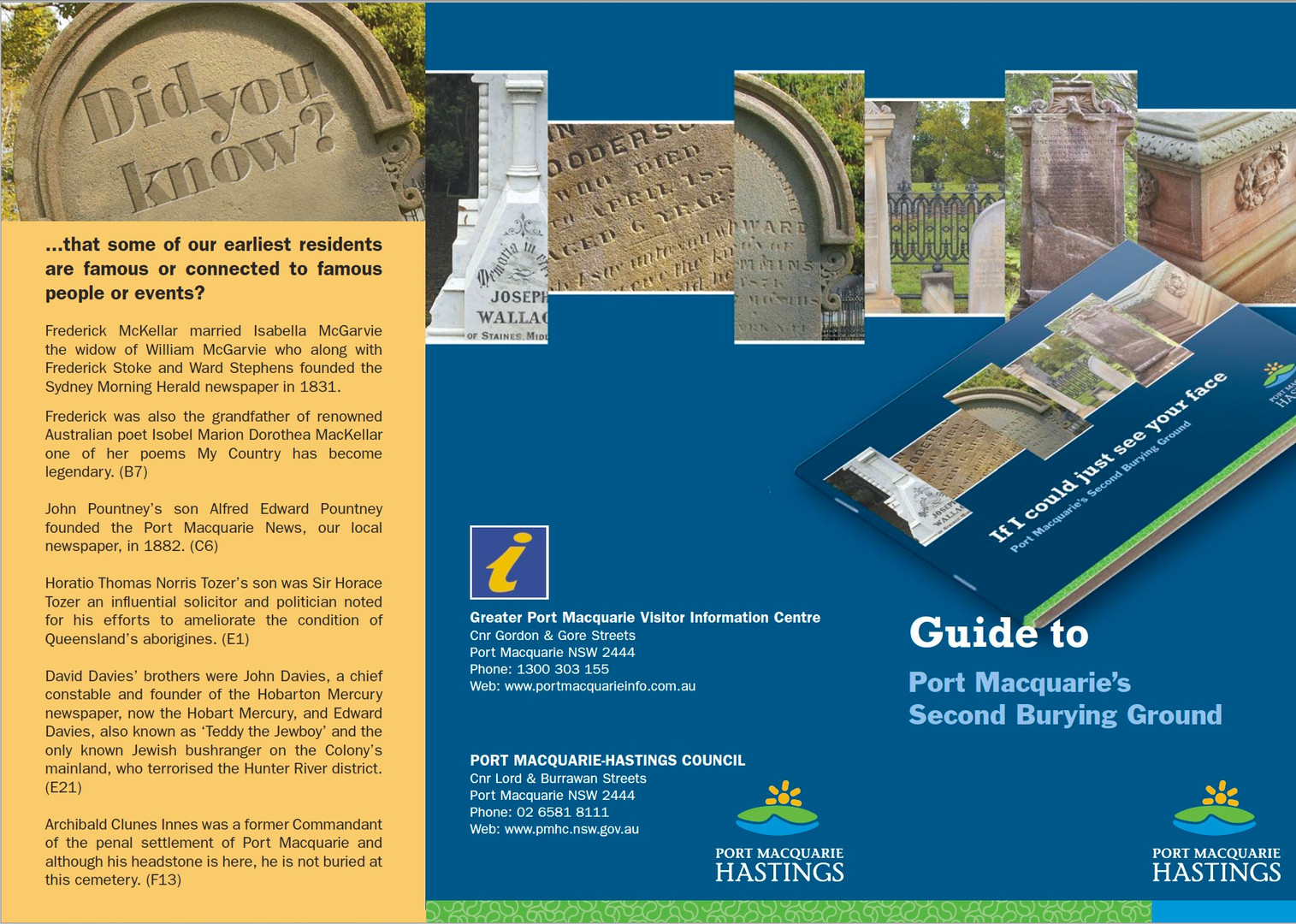 Guide to Port Macquarie's Second Burying Ground