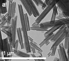 Image of Electron micrograph of halloysite nanotubes. Samso Insights