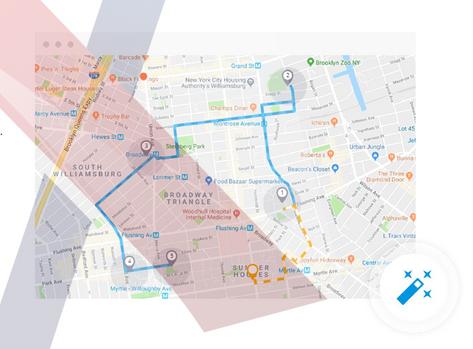 Automatic route optimization & Decreased overhead expenses