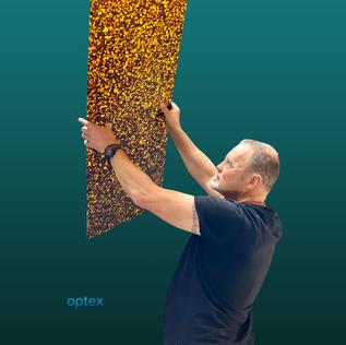 Optex uses bio acetates for their eyewea