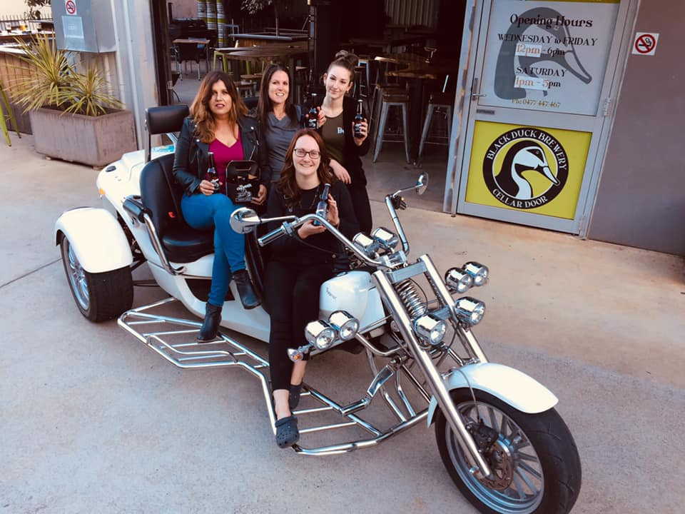 Beer o'clock time for these ladies when they triked their way to Black Duck Brewery in Port Macquarie.