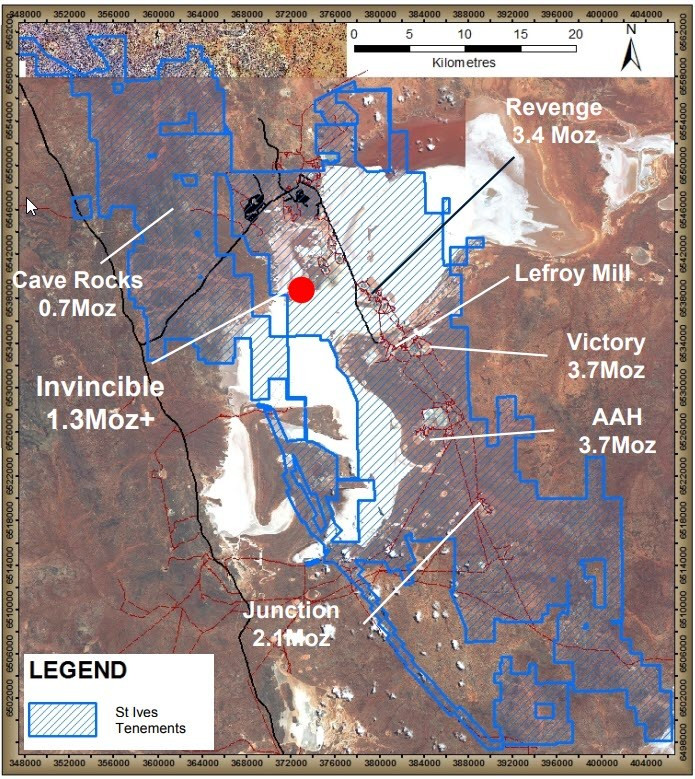 Figure 8: Plan of gold mines around Lake Lefroy. (source:Goldfields – Invincible Presentation 2014) Samso Insights