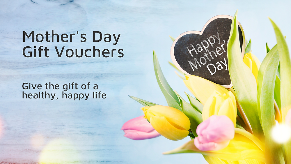 Mother's Day online Pilates Gift Vouchers on sales now