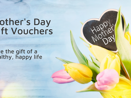 Mother's Day PILATES gift vouchers