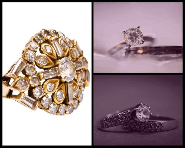 Three elaborate diamond rings. Samso Insights