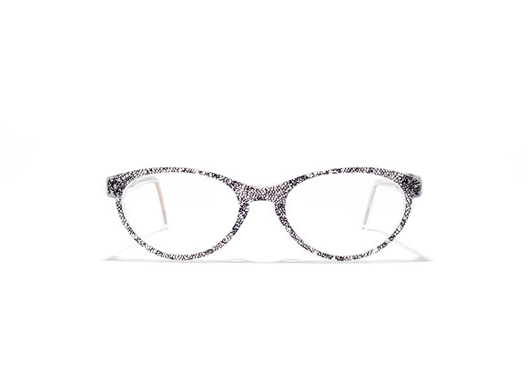 Trinity Crystal/Black Lace Female Australian made Spectacle Frames at Optex Australia Eyewear (front view)