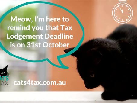 Deadline for DIY  Tax Returns is on 31st October