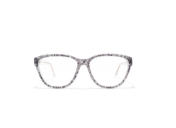 Mermaid (Crystal/Black Lace) front view Australian made Eyewear available at Optex Australia