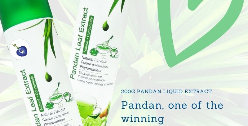 200g of Pure Pandan Leaf Extract from My Blue Tea