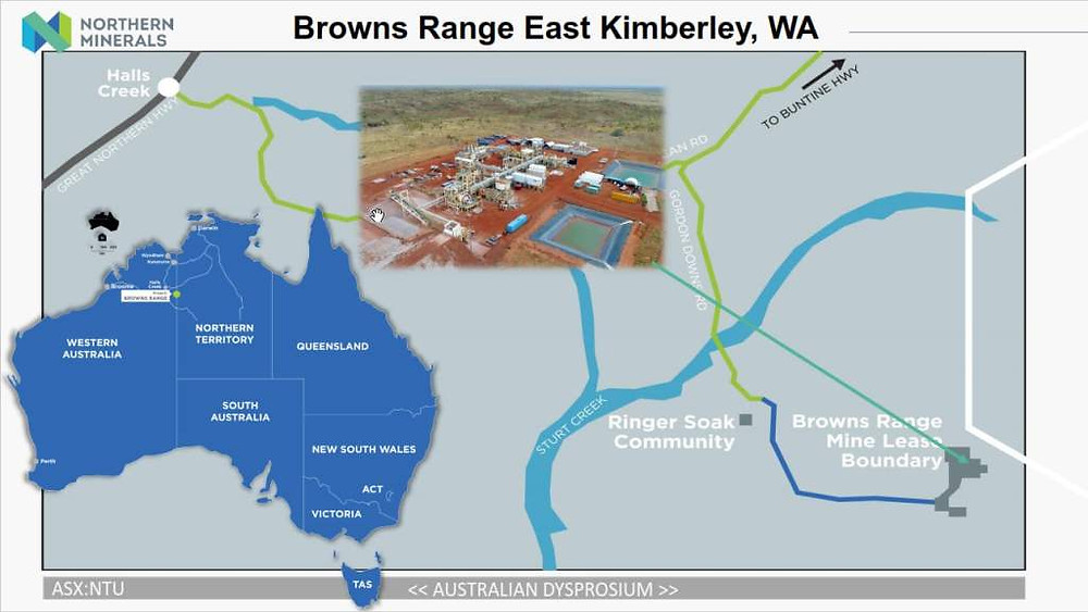 Its current portfolio consists of three projects, the Browns Range and John Galt projects in WA, and the Boulder Ridge Project located in the NT