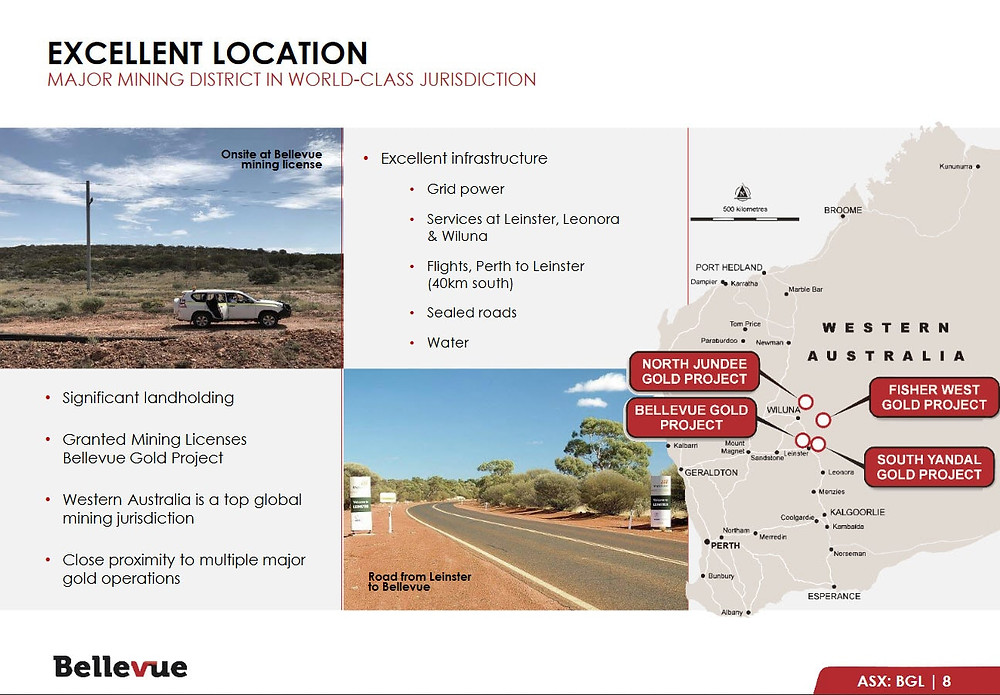 An overview of the project highlighting its proximity to excellent infrastructure and the best geological address.