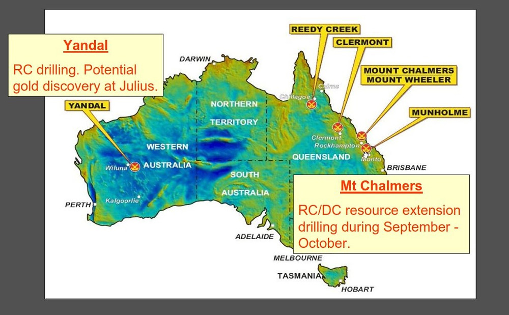 Echo Resources Limited (ASX: EAR) Projects at the time of listing on the ASX in 2006.(Source:  Echo Resources Limited)