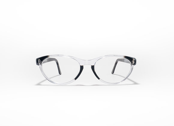 Trinity Female Australian made spectacle frame in crystal black at Optex Australia Eyewear (front view)