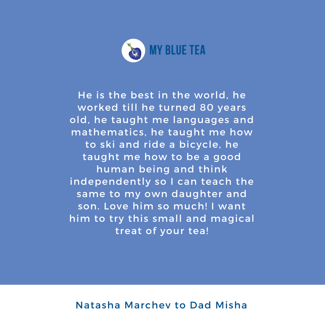 My Blue Tea Father's Day Contest Winner - Natacha Marchev