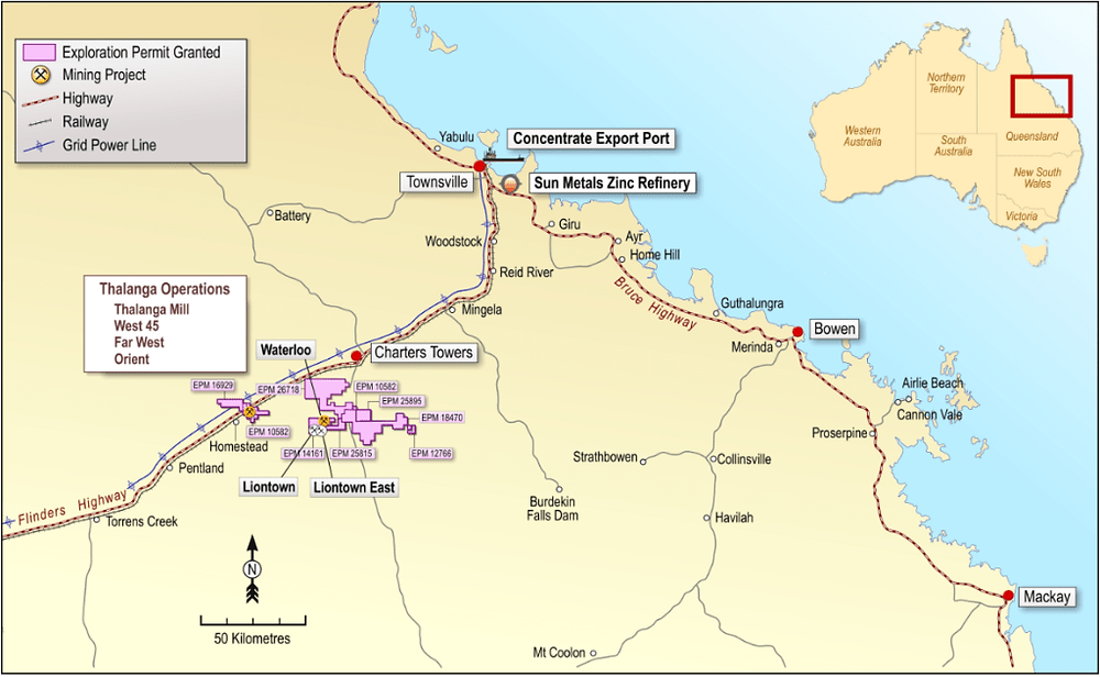 Red River Resources Limited Thalanga Operations Location. (source:  Red River Resources Limited)