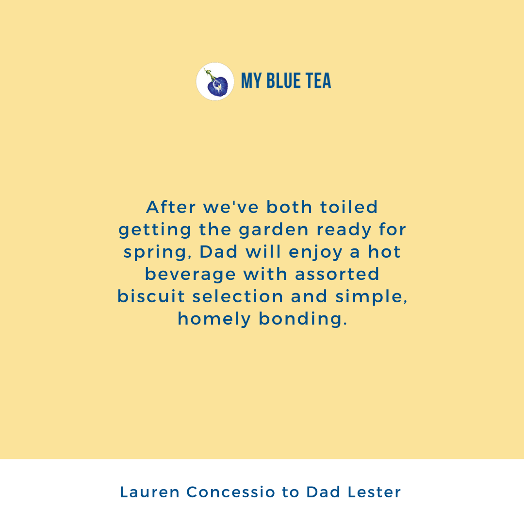 My Blue Tea Father's Day Contest Winner - Lauren Concessio